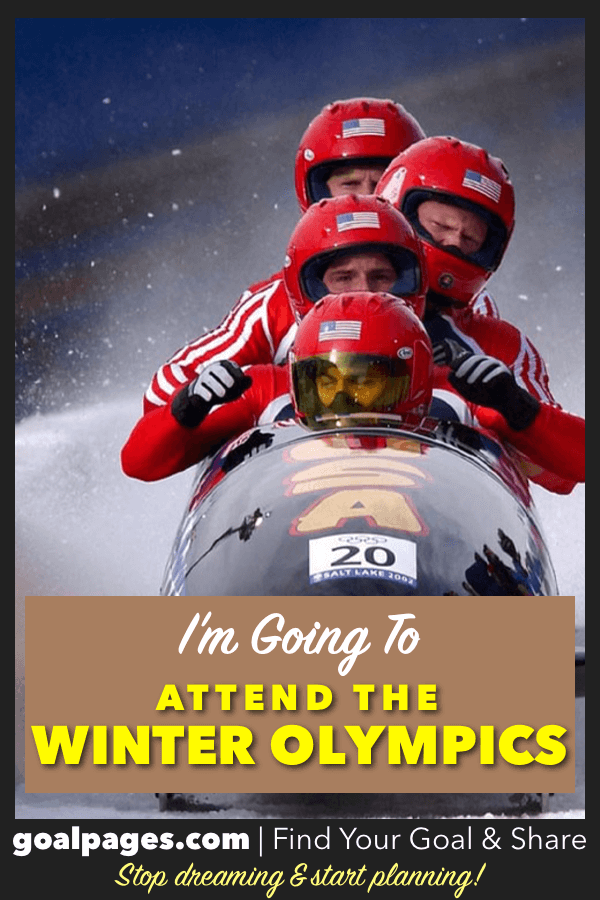 I'm Going To Attend The Winter Olympics