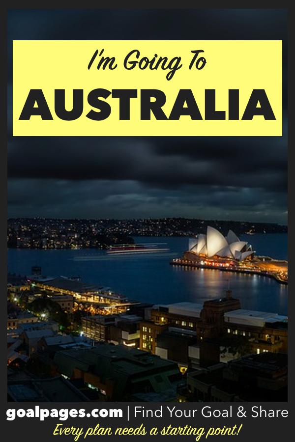 I'm going to Australia