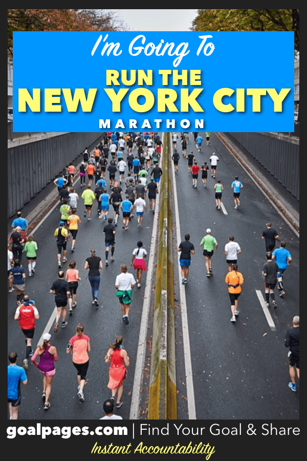 I'm Going To Run The New York Marathon