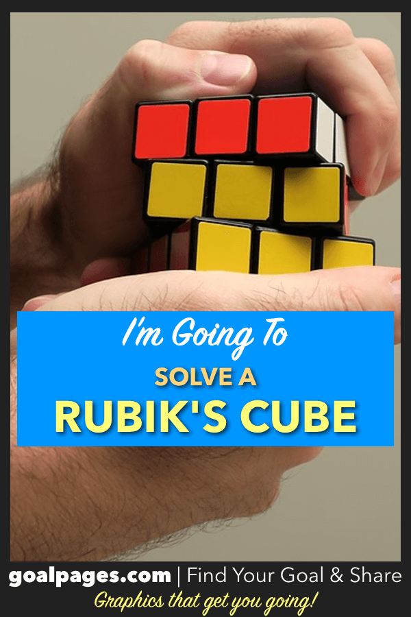 I'm Going To Solve A Rubiks Cube