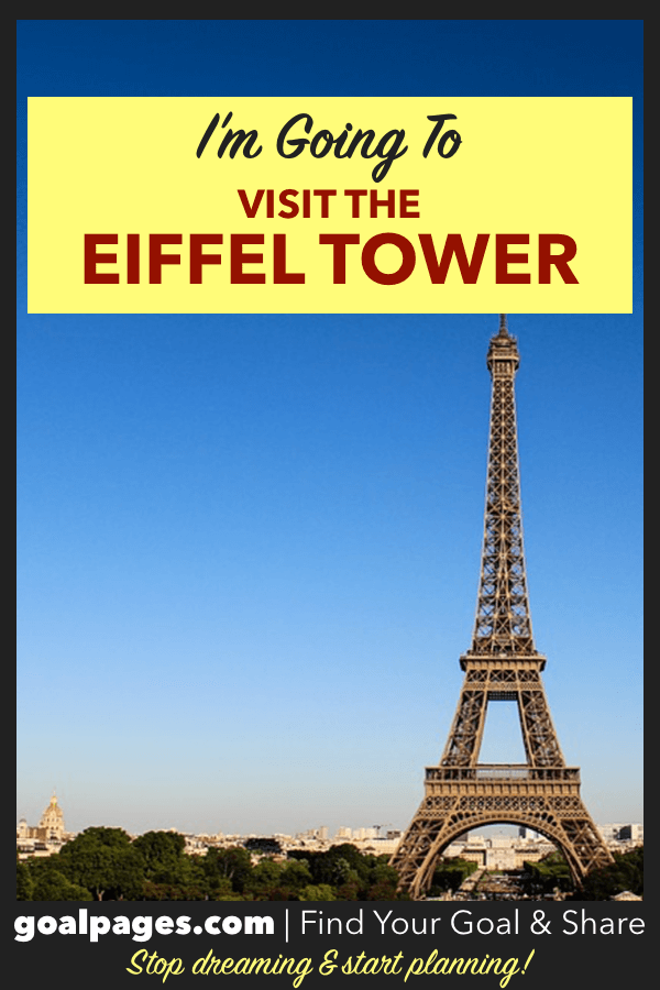 I'm Going To Visit The Eiffel Tower