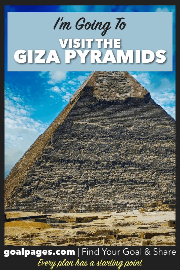 Giza Pyramids Bucket List Goal