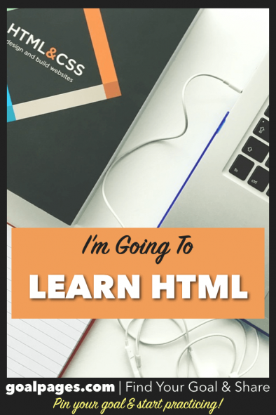 I'm Going To Learn HTML