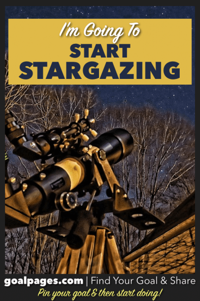 I'm Going To Start Stargazing